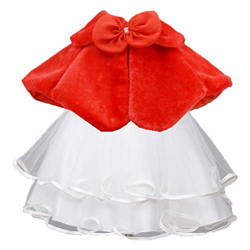ARAUS Chaqueta Capas Elegantes de Princesa para Niña Poncho Infantil de Vestido Boda Fiesta Bolero Calentito de Invierno