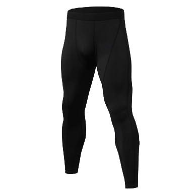 c83462249 Men's Compression Pants Workout RunningTights Leggings,Summer Fitness  Training Bodybuilding Trouser Jogging Bottoms (Black