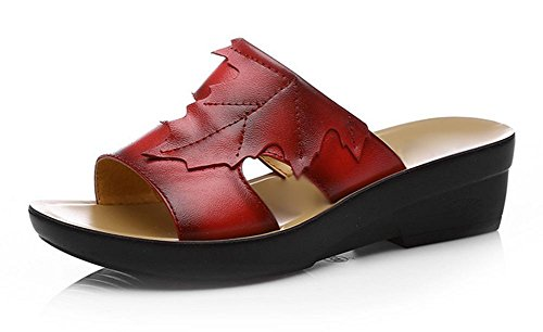zapatillas de la señorita Colmillo Gen mujeres del verano refrescan zapatillas sandalias femenino mamá Red