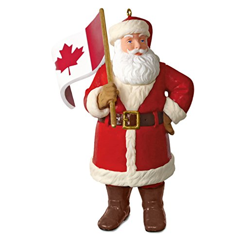 Hallmark Keepsake Christmas Ornament 2018 Year Dated, Canadian Flag, Canada Flag Santa (Best Gifts From Canada)