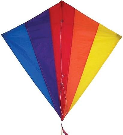 amazon com in the breeze rainbow diamond 30 inch kite single line
