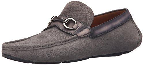 Magnanni Men's Ringo Slip-On Loafer, Grey, 9.5 M US
