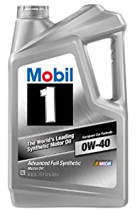 Mobil 1 96989 Synthetic 0W-40 Motor Oil - 1 Quart (Case of 6) by Mobil 1