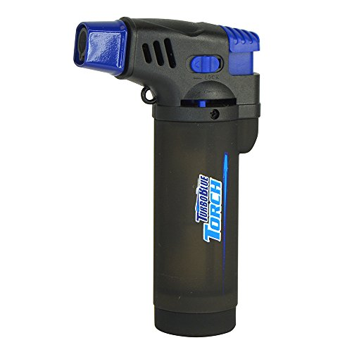 Turbo Blue XXL Jet Flame Refillable Torch Lighter with Powerful Windproof Flame