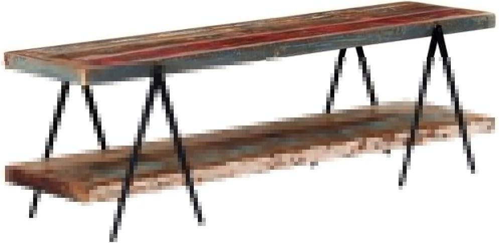 Tidyard TV Schrank mit 2 Regalen Handgefertig Lowboard Fernsehtisch Fernsehschrank HiFi-Schrank TV M/öbel Sideboard 160x40x50cm Recyceltes Massivholz