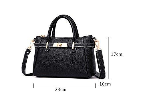 Simple GWQGZ La Spanning De Lady'S Black Negro Solo Sesgar Handbag Moda Bolsa Nueva Hombro Es nXfr1fP