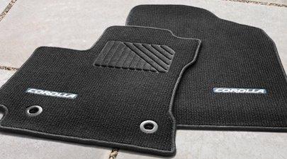 Carpet Floor Mats >> Amazon Com 2014 Corolla Carpet Floor Mats Color Black W Amber