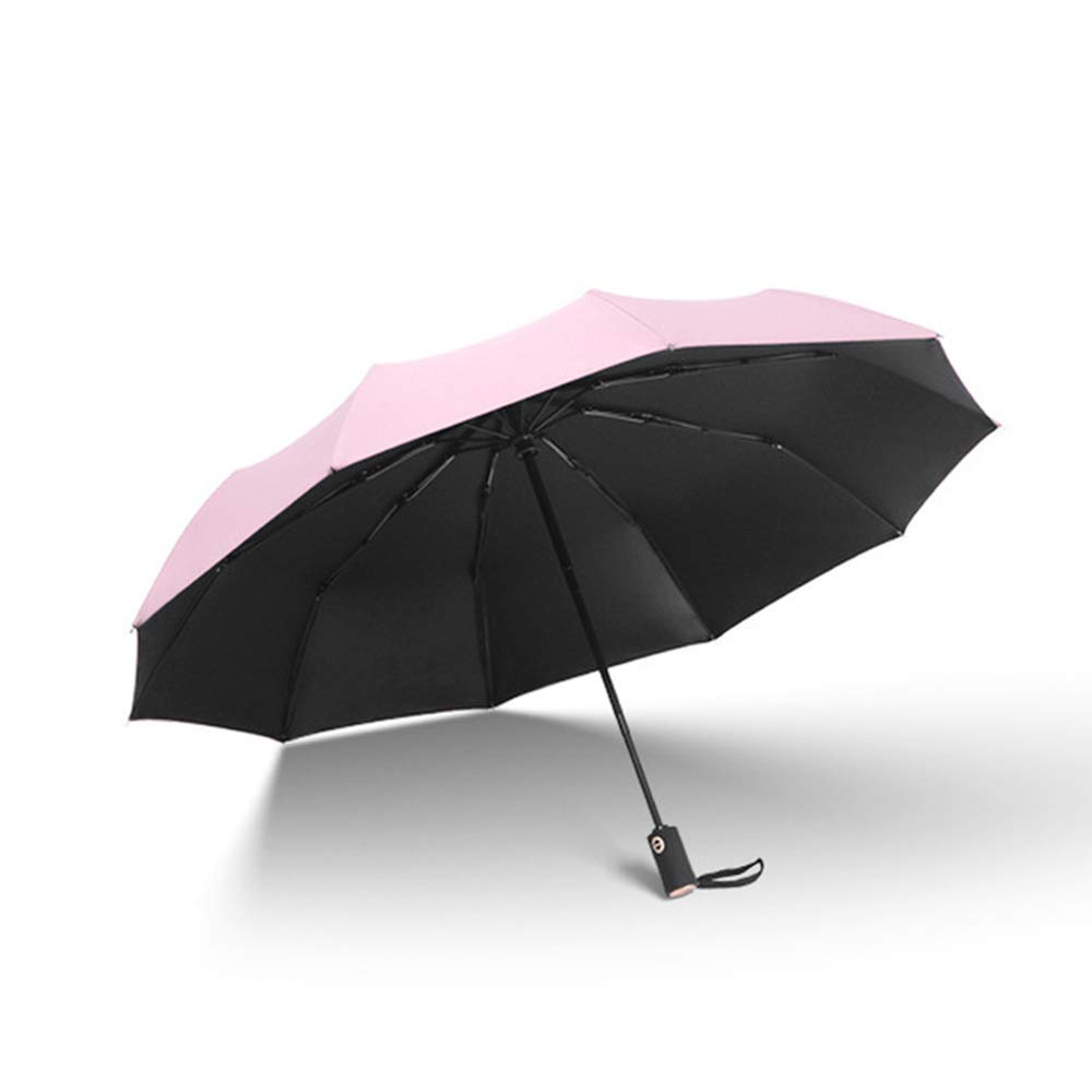 e12a9afabbf8 Pink Portable Compact Travel Windproof Layer Folding Umbrella Auto ...