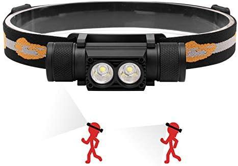 Linterna Frontal LED USB Recargable de Cabeza Lúmenes Luz ...