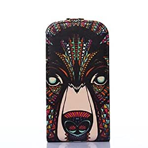 LZX Wild Dogs Pattern Leather Hard Case for Samsung Galaxy Trend Lite7390/7392