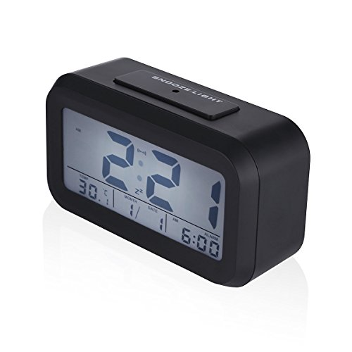 Projection Digital Time Calendar Weather Snooze Alarm Clock (Clamps For Ear Docking Dogs)