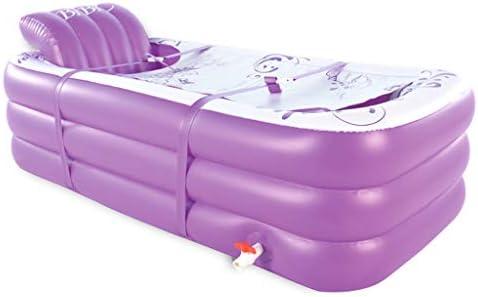 HUOQILIN インフレータブル浴槽浴がプラスチック風呂バレルを折る大の大人の家庭の温かみを肥厚しました (Color : Purple, Size : C)