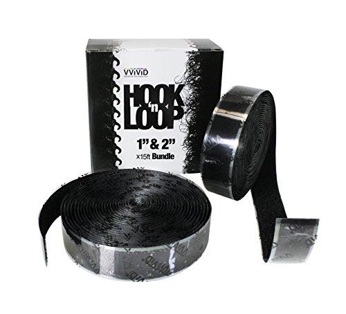 Industrial Hook Strength (Hook 'n Loop Super Industrial Strength Adhesive Fastening Tape Black 1