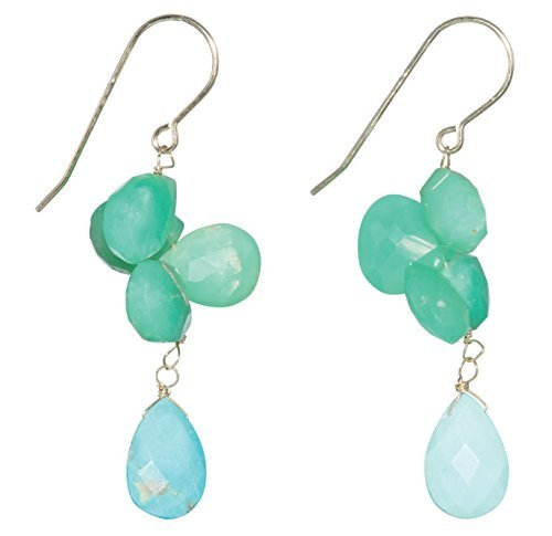 Turquoise Baby Blue Chrysoprase Dangles on 14K Gold Filled French Earwire