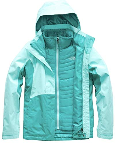 (North Face WMNS Small Mossbud Swirl Triclimate Jacket Mint Blue/Kokomo Green)