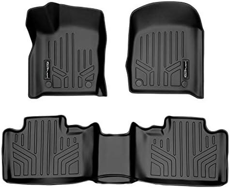 SMARTLINER Custom Fit Floor Mats 2 Row Liner Set Black for 2016-2021 Jeep Grand Cherokee / Dodge Durango