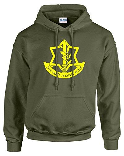 Pro Art Shirts Men's IDF Hoodie Medium Army
