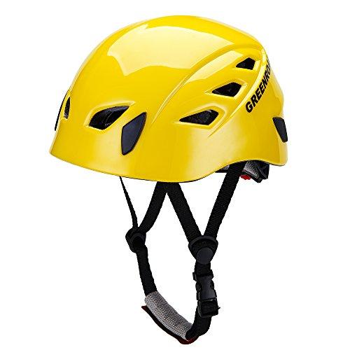 GREENROAD (グリーンロード) ハーフドーム ギャラクシー レッド アルパインクライミング用ヘルメット登山用ヘルメット防護帽 キャンプ アウトドア 装備 旅行用品 釣り 探洞 救援 全6色(イエロー)の商品画像