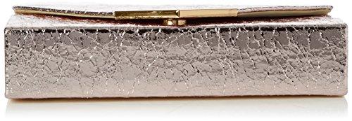Swanky Swans Anastasia Envelope Metallic Clutch Bag - Carteras de mano Mujer Dorado (Champagne Rose)