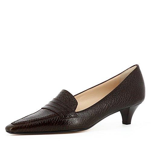 Foncé Femme Shoes Marron Lia Escarpins Cuir Grainé Evita nwPxF0qaw