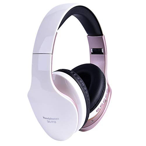 NA Electronic Aceesories Wireless Headphones Bluetooth Headset Foldable Stereo Headphone Gaming Earphones Support TF Card with Mic for PC All Phone Mp3 White