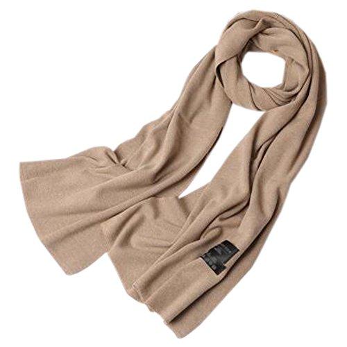 実験どちらも非アクティブ女性のソフトスカーフ快適な暖かいスカーフネッカーコフネックウォーマー、ライトコーヒー
