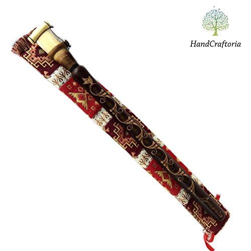 Professional Armenian DUDUK Apricot Wood Armenian Oboe flute Balaban Woodwind Instrument – free Gift national case with Playing Instruction