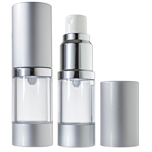 Airless Spray Bottle Refillable Travel Container - 10 ml / 0.34 oz (2 pack) + Travel Bag and Funnel