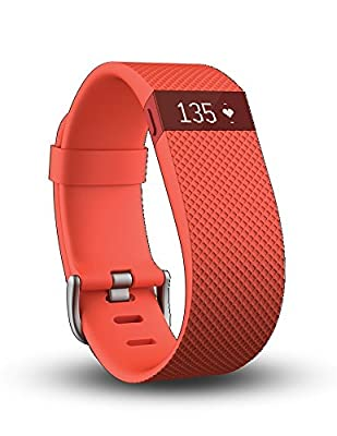 Fitbit Charge HR Wireless Activity Wristband, Tangerine