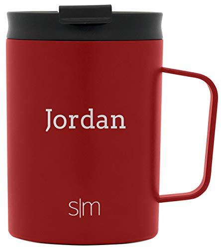 Simple Modern Personalized Gift Tumbler Custom, Mug 12oz - Black Lid, Cherry