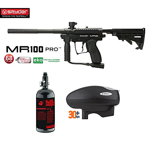 MAddog Spyder MR100 Pro HPA Paintball Gun Package - (Semi Pro Paintball Gun)