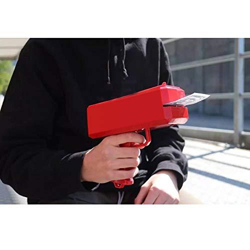 Kevide Interesting Party Game Props-Money Gun Super Gun Cash Gun Red Money Gun Make it rain(300 Prop Money) by Kevide (Image #4)