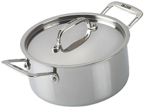 Alda Tri Ply Stainless Steel Cook N Serve Casserole With Lid Standard Silver