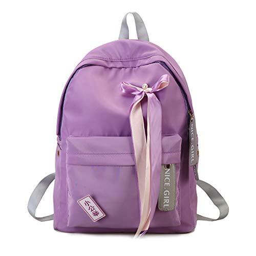 imperméable à avec en Purple Nylon de à l'arc imperméable Pink Sac Dos Sac d'école Dos Voyage Xuniu Deep pf4zU