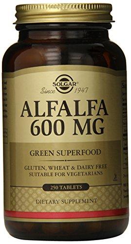 Solgar luzerne comprimés, 600 mg, 250 Count