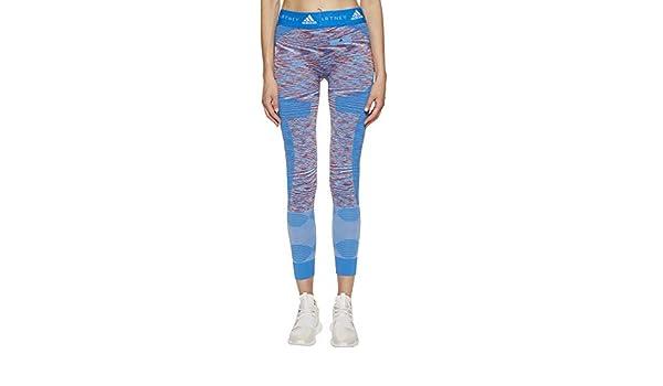 89157fe723 adidas by Stella McCartney Women's Yoga Seamless Tights Space Dye CF4128  White/Dark Callisto/Blue Large 27 at Amazon Women's Clothing store:
