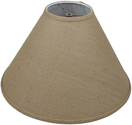 FenchelShades.com Lampshade 6 Top Diameter x 19 Bottom Diameter x 13 Slant Height with Washer Spider Attachment for Lamps with a Harp Burlap Natural