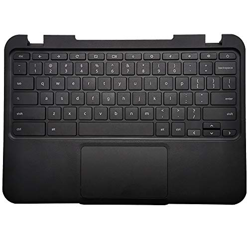 CAPARTS New Black Palmrest with Touchpad Keyboard Compatible with Lenovo N21 Chromebook Laptop Top Cover Upper Case 37NL6TC0040 5CB0H70355