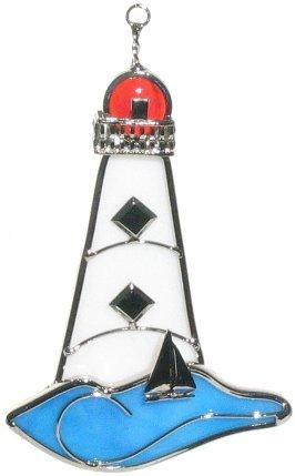 Lighthouse Stained Glass Suncatcher