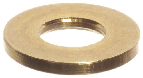 Brass Flat Washer, #2 Hole Size, 0.0890
