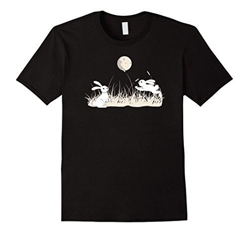 Japanese Gothic Fashion (Asian Moon And Bunnies Traditional Japanese Gothic Gift Tee)