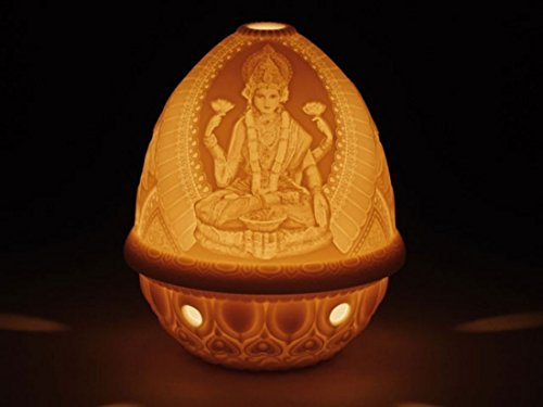 Gifts Lladro - Lladro Sale Porcelain Lithophane Votive Light -Goddess Lakshmi 010.17339 Worldwide Shipping