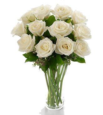 Ramo De 12 Rosas Blancas Naturales Frescas Flores A Domicilio