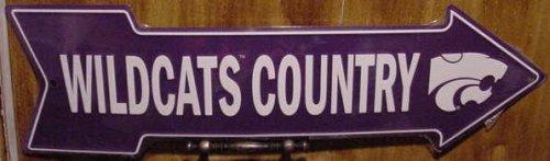 Kansas State University Wildcats Country Arrow Metal Sign