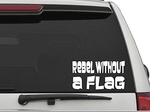 Rebel Flag Window Decals - Decals USA Rebel without a Flag Decal Sticker for Car and Truck Windows and Laptops