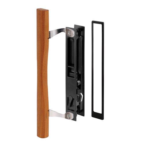 Prime-Line Products C 1130 Sliding Door Handle Set, Black Diecast, Wood Pull, - Croft Doors