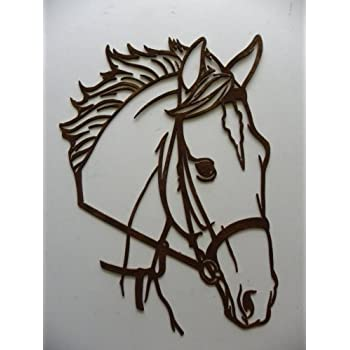 Famous Amazon.com: Say It All On The Wall Horse Head Metal Wall Art  JA02