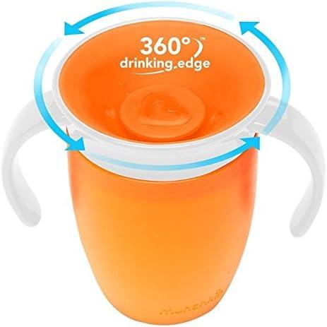 Juego de 2 vasos de aprendizaje Munchkin Miracle 360 de color verde y naranja