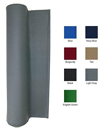 21 Ounce Pool Table Felt - Billiard Cloth - For an 8 Foot Table Light Gray