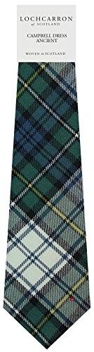 Clan Tie Campbell Dress Ancient Tartan Pure Wool Scottish Handmade Necktie